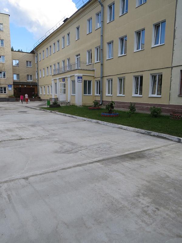 Благоустройство дворовой территории возле общежития